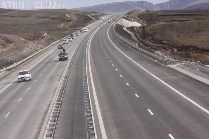 Cu aproape 200 la ora pe autostrada Transilvania, intre Turda si Gilau
