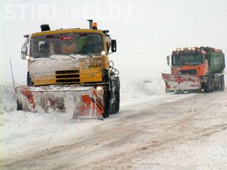 Pe autostrada Transilvania se circula cu dificultate intre km 15 si 27, din cauza viscolului