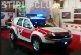 Dacia Duster a fost transformata de nemti in masina de pompieri - VIDEO