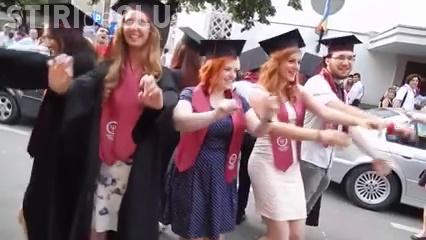 Dans al absolventelor de la UBB Cluj a ajuns BĂȘCĂLIE pe Facebook - VIDEO