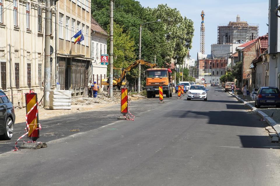 Când se termină modernizarea străzii Avram Iancu. Vezi care este stadiul lucrărilor FOTO