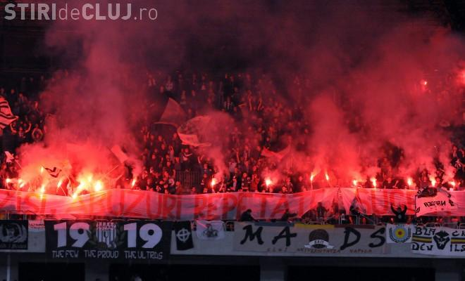 Suporterii U Cluj protestează față de FRF: Îngrădesc accesul la meciul Ungaria - România, de la Budapesta