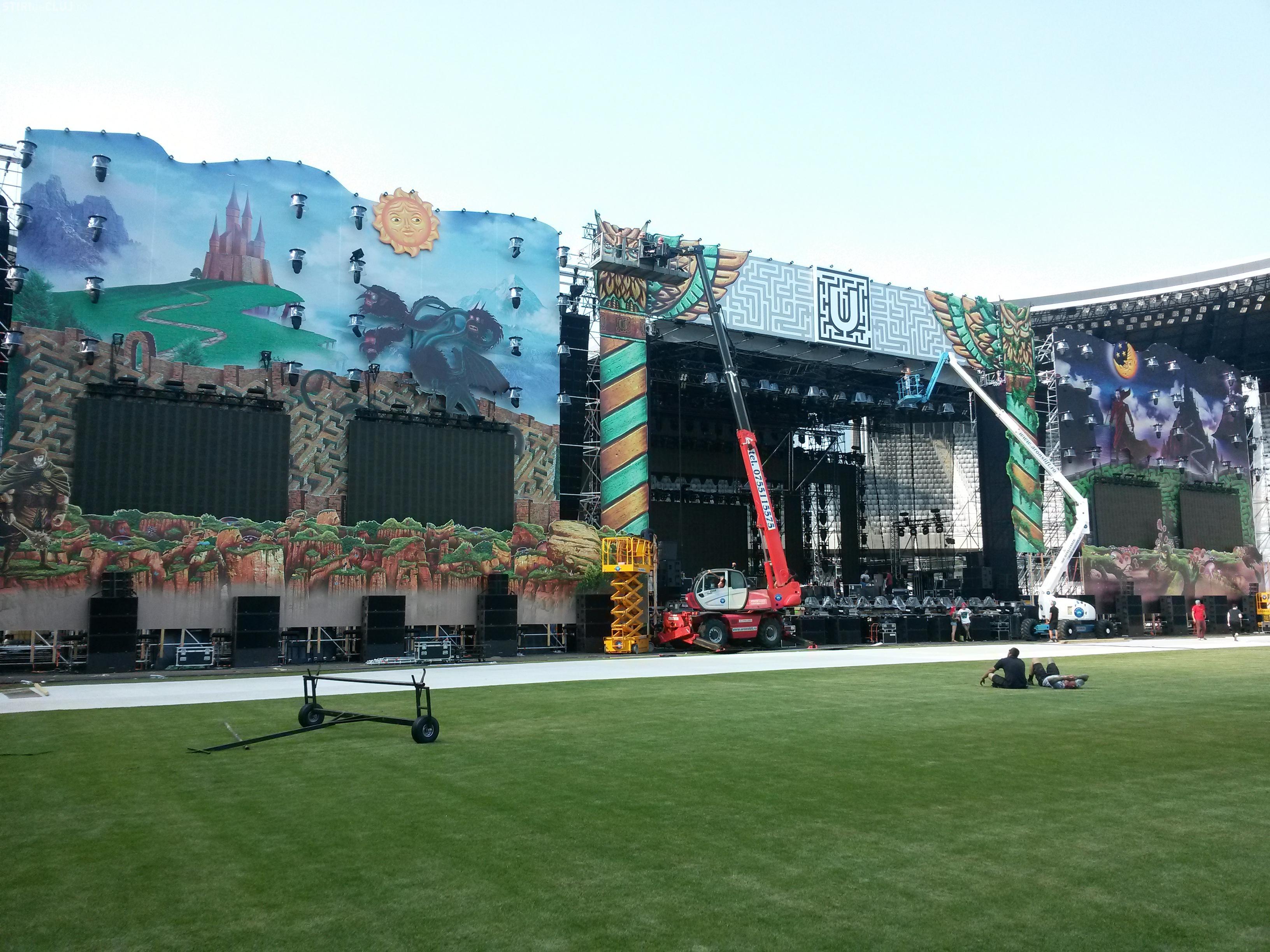 UNTOLD FESTIVAL: Cum arată scena de pe Cluj Arena - FOTO