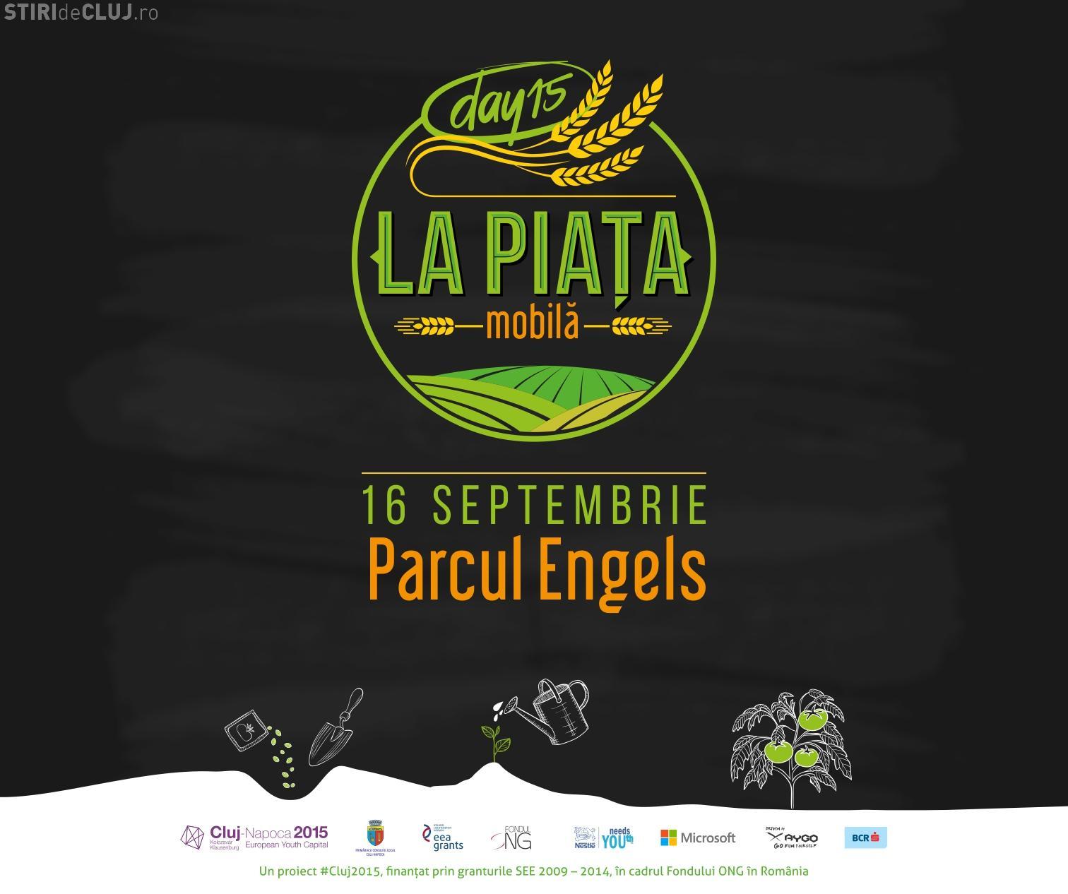 Piată mobilă cu producători și BUCATE alese - DAY 15 vine la Cluj cu un picnic în Parcul  Engels