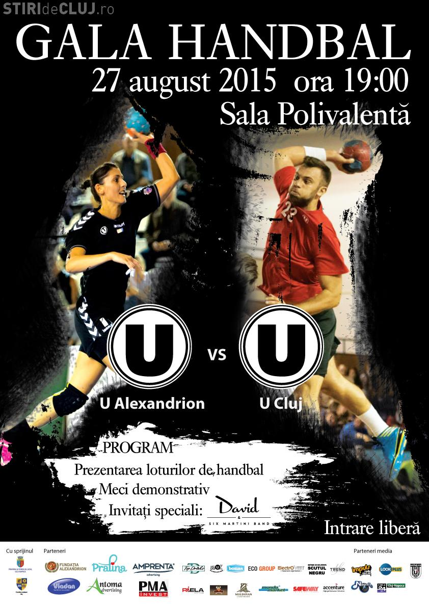 Gala U Cluj la Handbal: Echipele de handbal ale Clujului își prezintă loturile