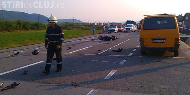 Accident grav la Cluj! Un motociclist a murit, făcut ZOB de un TIR. Era fiul unui politician - FOTO