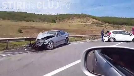 Accident pe centura Apahida! Trei mașini distruse de un șofer de BMW - VIDEO