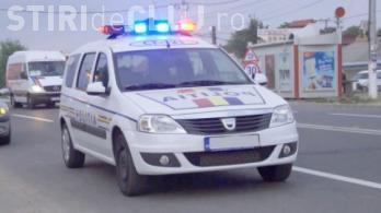 Șofer iresponsabil, prins de polițiști la Cluj. A băgat în spital un pieton și a fugit