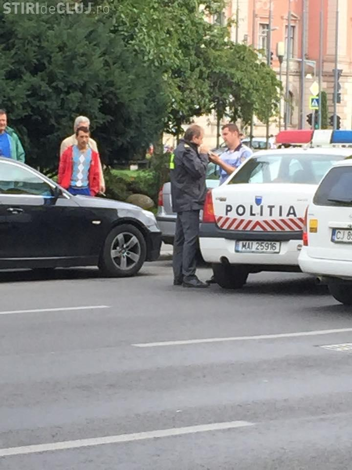 Politia vs ANAF la Cluj. L-a pus pe inspector să sufle în fiolă - FOTO