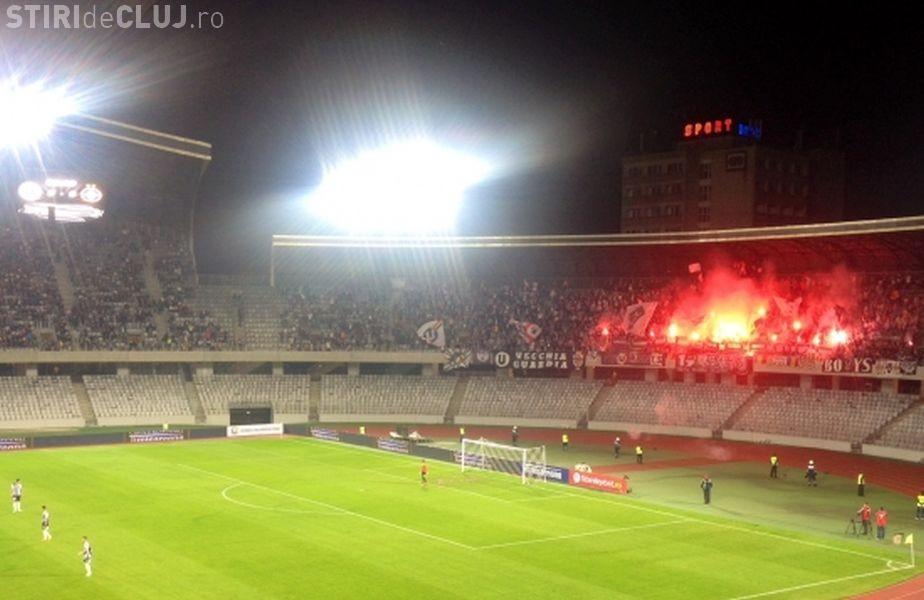 Suporterii U Cluj au UIMIT la meciul cu Steaua. Becali s-a închinat în fața lor