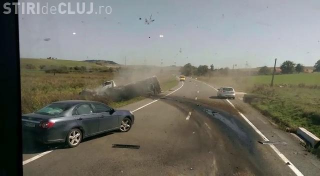 Accident mortal la Huedin! Imagini la câteva secunde după IMPACT - VIDEO