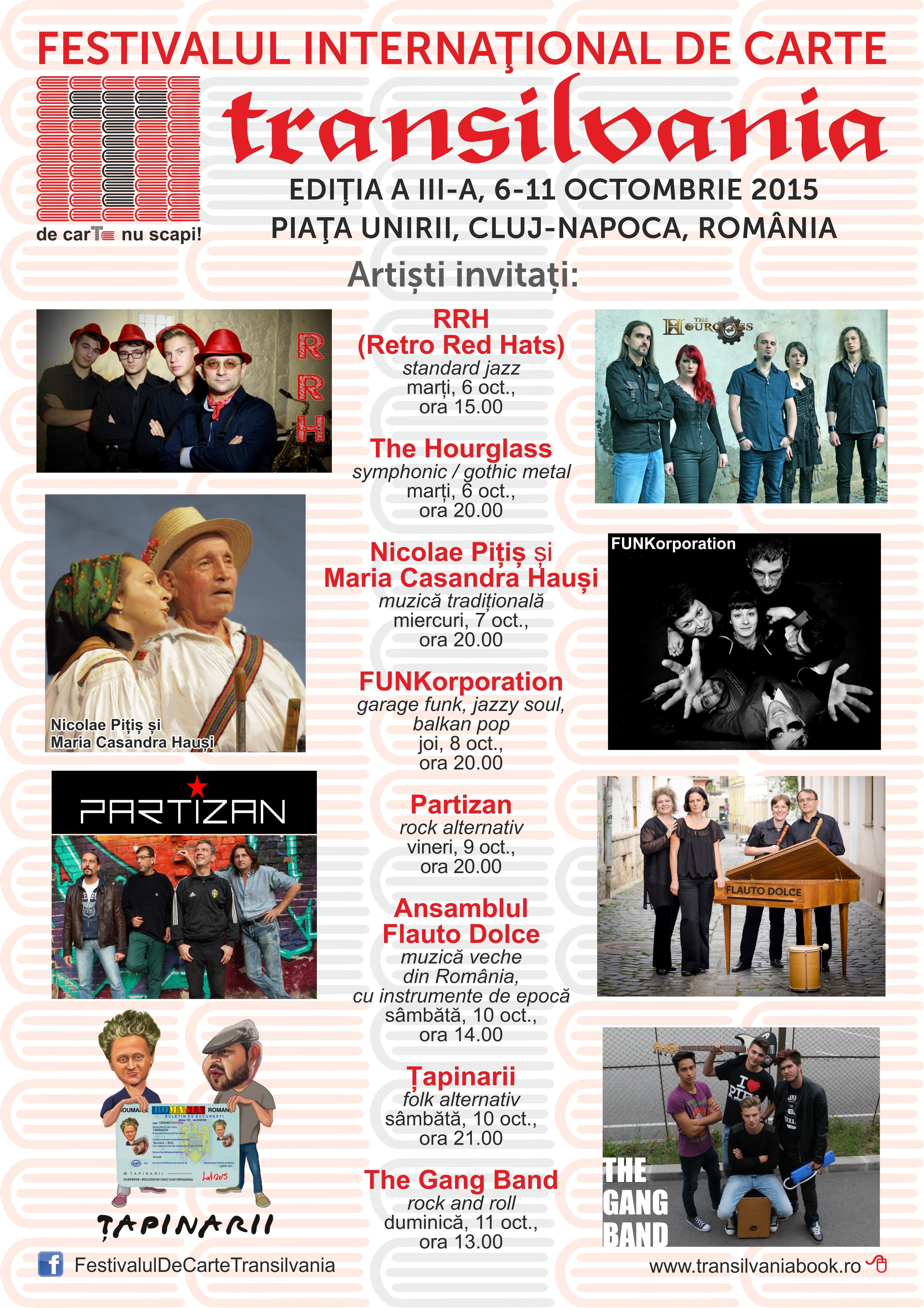 Concerte la Festivalul Internațional de Carte Transilvania. Totul se întâmplă în Piața Unirii