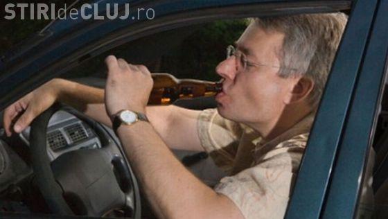 """Șofer """"pericol public"""", prins pe un drum din Cluj! Era beat la volan , nu avea permis și a cauzat un accident"""