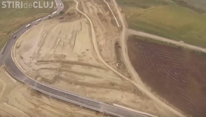 Imagini AERIENE cu lucrările de la autostrada Turda - Sebeş. Finanțarea europeană se prelungește până în 2020