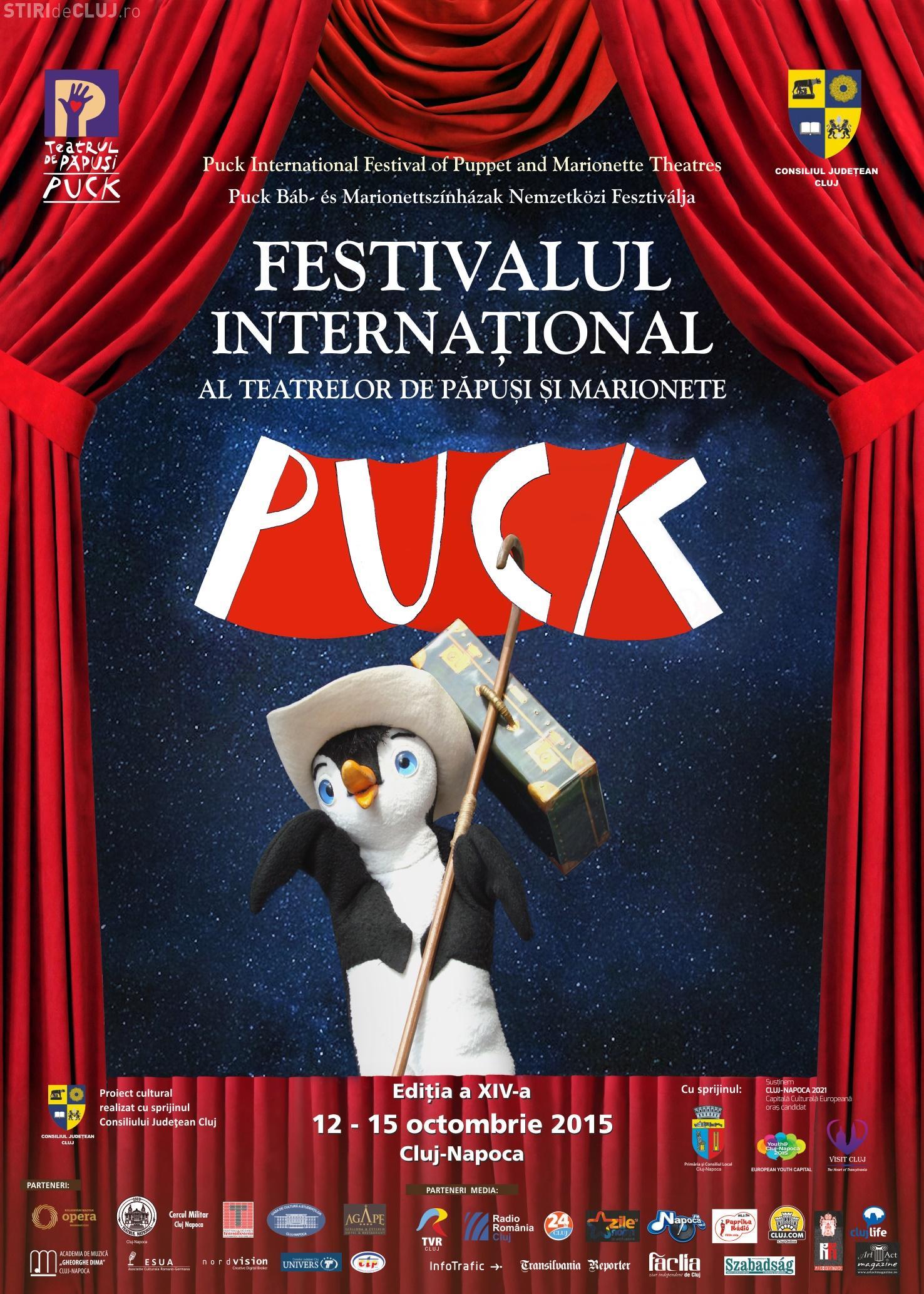 """PROGRAM - Festivalul Internaţional al Teatrelor de Păpuşi şi Marionete """"Puck"""""""