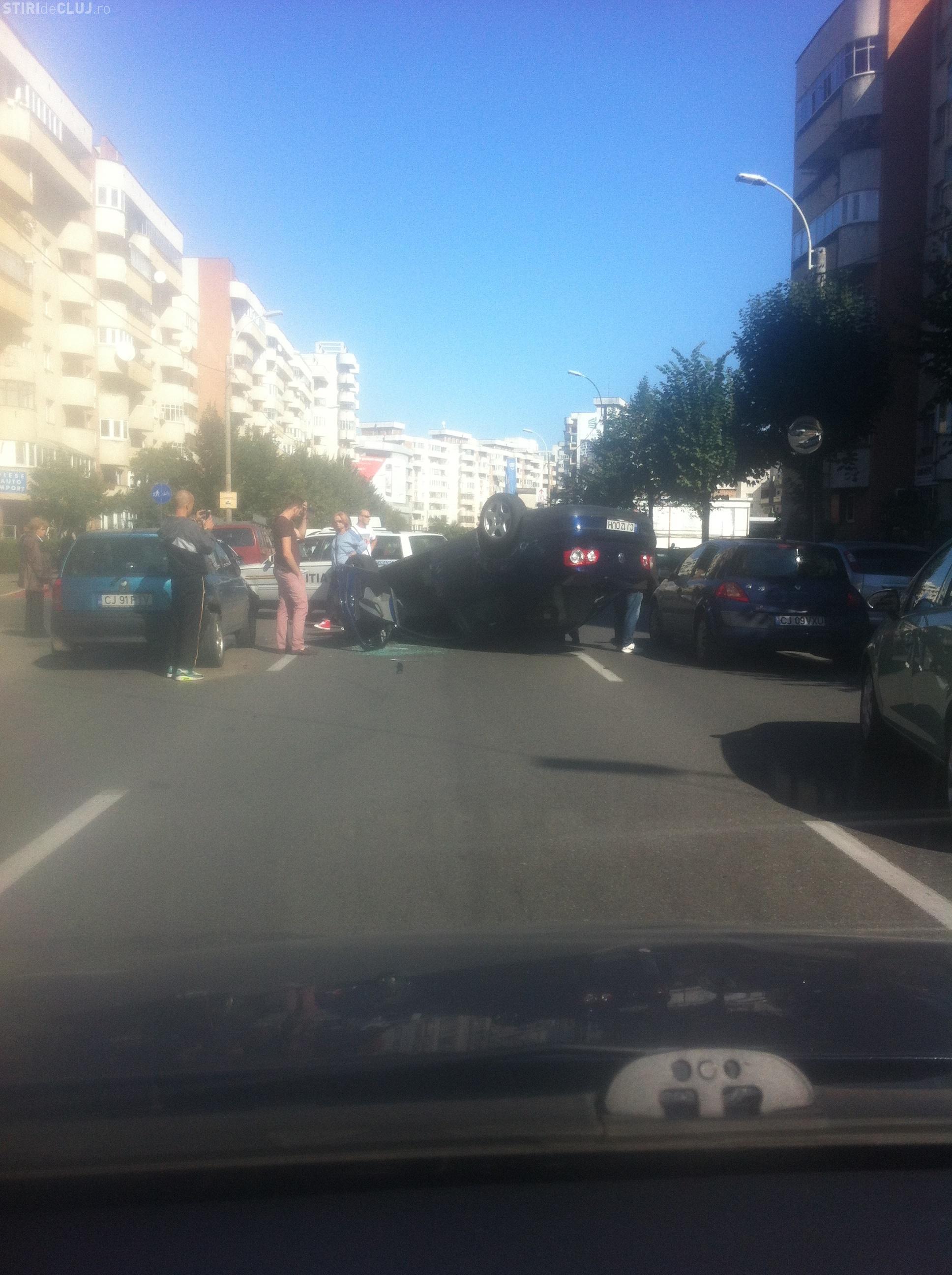 UPDATE Accident SPECTACULOS pe Dorobanților! Ce s-a întâmplat - FOTO