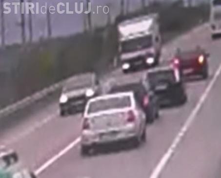 Accident la Cluj surprins de camerele de supraveghere - VIDEO