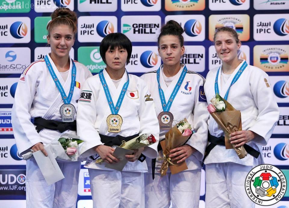 Judoka Ștefania Dobre, de U Cluj, a luat argintul la Campionatul Mondial de juniori U21