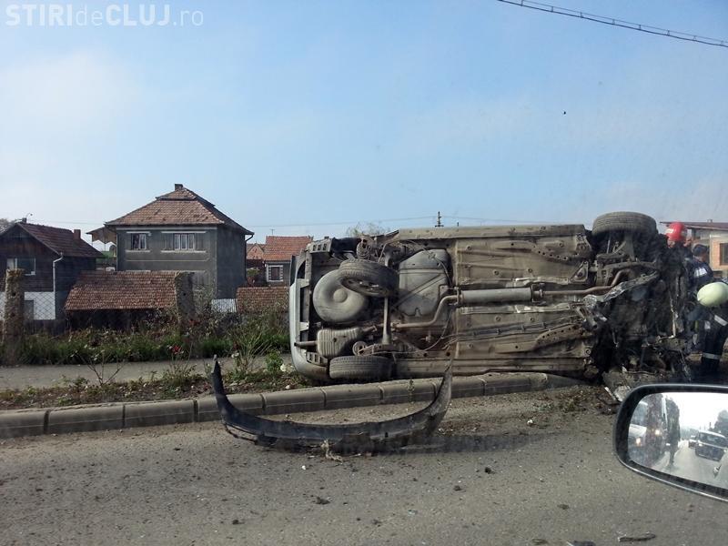 Șofer MORT de BEAT a produs un accident GRAV la intrare în Cluj-Napoca - FOTO