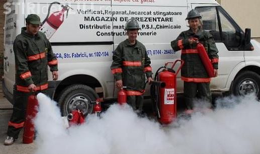 Cluj: Au crescut cu 50% vânzările de stingătoare de incendiu