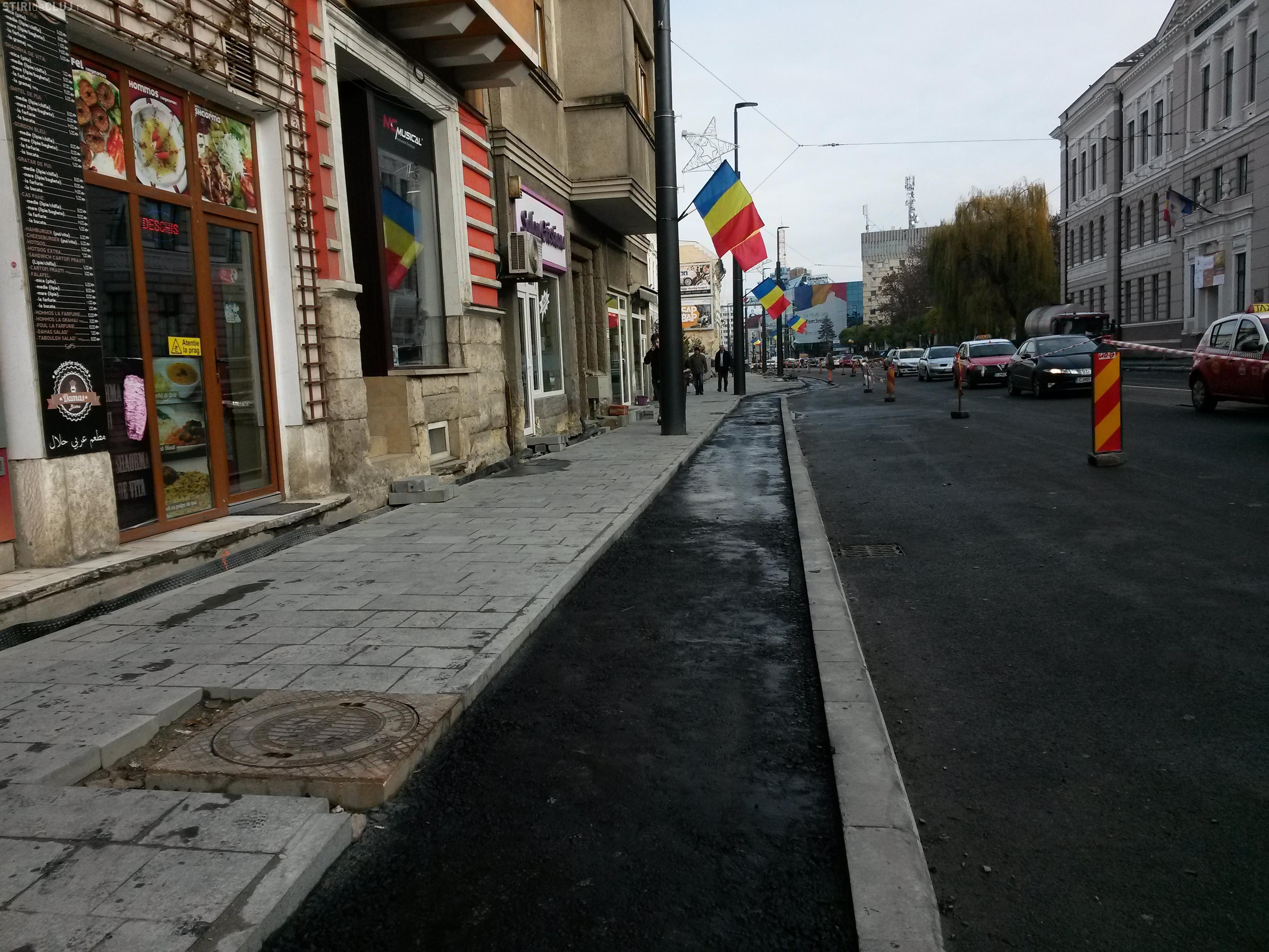 Strada Barițiu, cu zona bancară și cea de la Universitatea Tehnică, va fi finalizată până în 15 decembrie