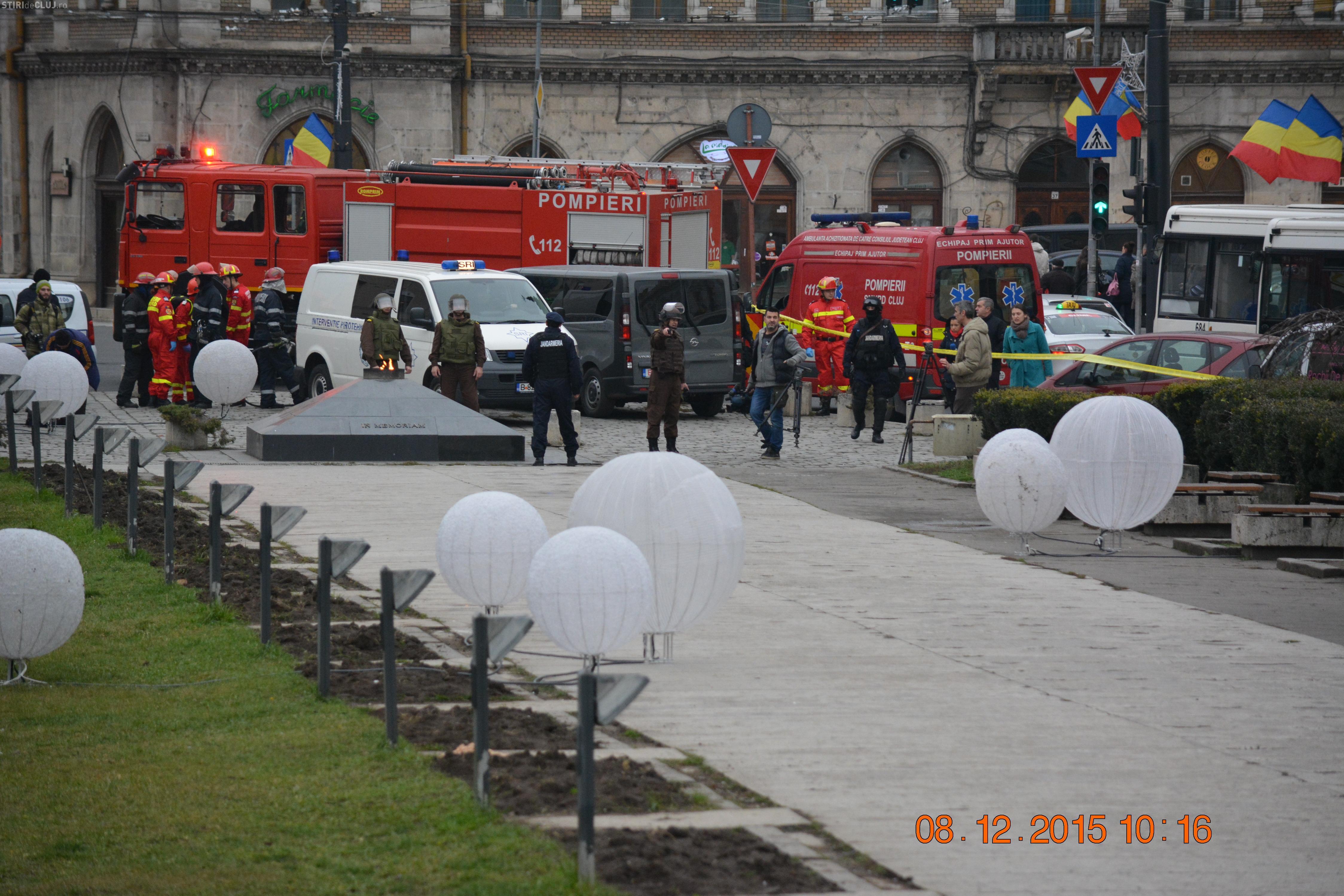 Mașină capcană și mascați în Piața Mihai Viteazu. Ce alte exerciții ale SRI, Poliție și Jandarmerie vor urma