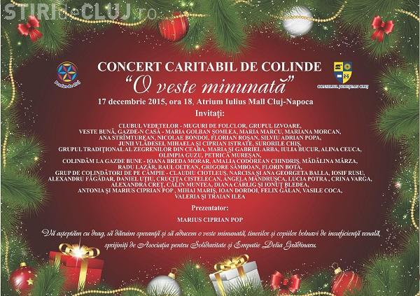 Concert Caritabil de Colinde la Iulius Mall pentru copiii cu dializă