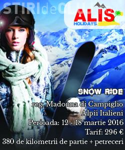Schi în Italia de la 296 de euro + un BONUS. Excursia este la SNOW RIDE FESTIVAL din regiunea Madonna di Campiglio