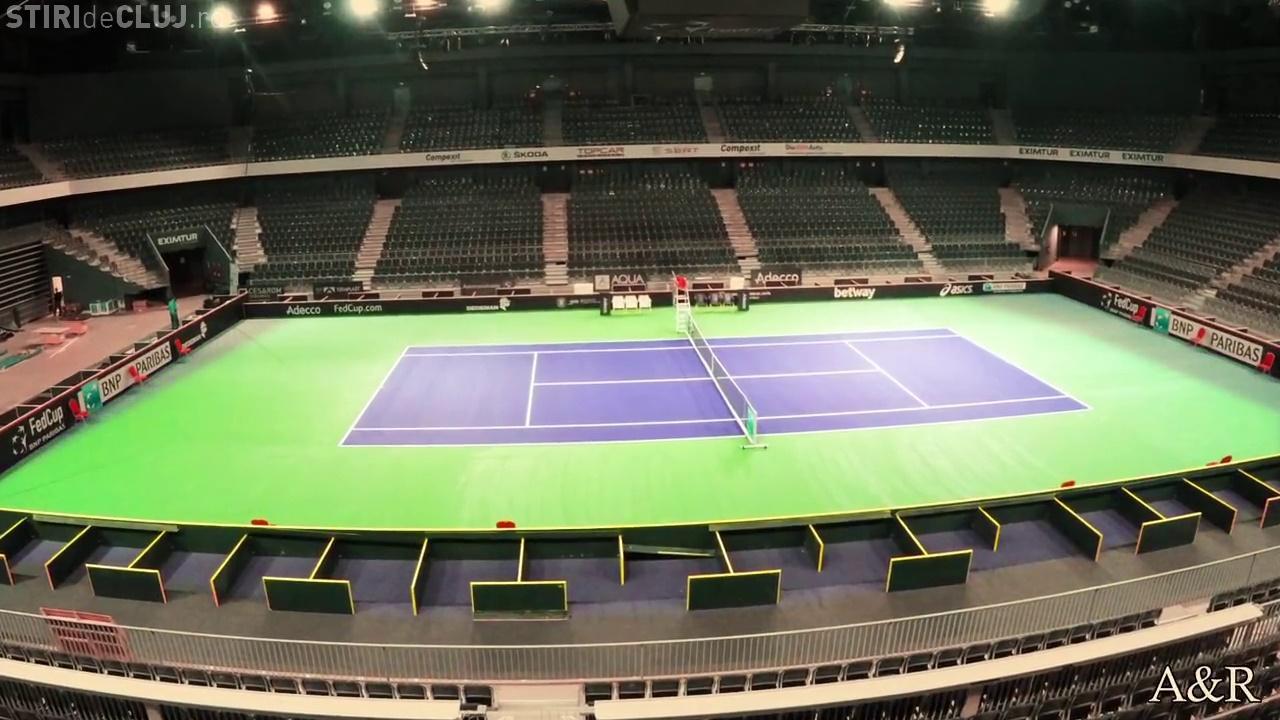 Cum s-a transformat Sala Polivalentă în arenă de tenis. Timelapse de 30 de secunde - VIDEO