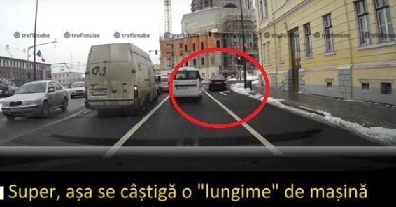 BMW - ist cu tupeu la Cluj! Face cascadorii pentru a câștiga secunde în trafic - VIDEO