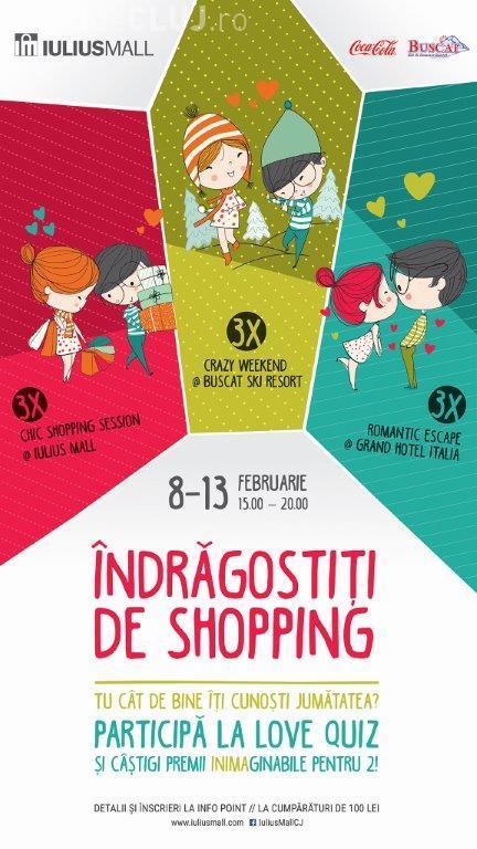 Îndrăgostiții de shopping sunt premiați de Iulius Mall Cluj cu week-end-uri la ski, escapade romantice și sesiuni de cumpărături (P)