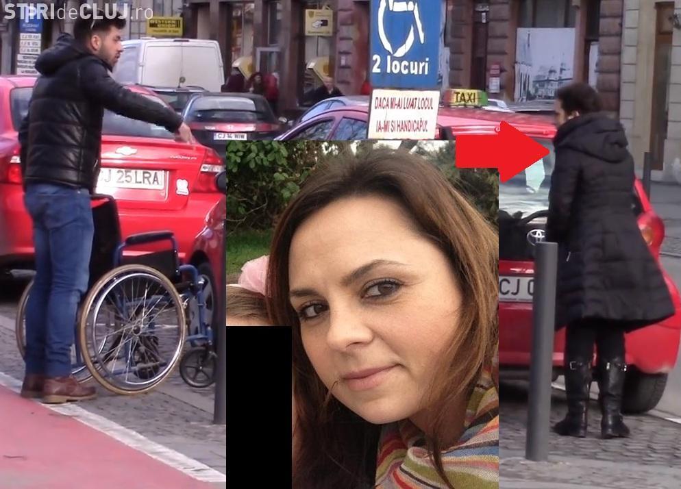 Avocata care a parcat pe locul pentru cei cu handicap se apără. Tatăl ei are certificat de handicap
