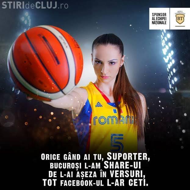 """Suporteri, haideți la oaste! Vezi cele mai haioase versuri de chemare la """"luptă"""" la meciul de baschet feminin România - Turcia, de la Cluj"""
