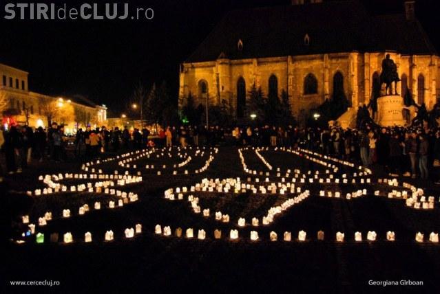 Ora Pământului la Cluj. Earth Hour este sărbătorită în Piața Unirii