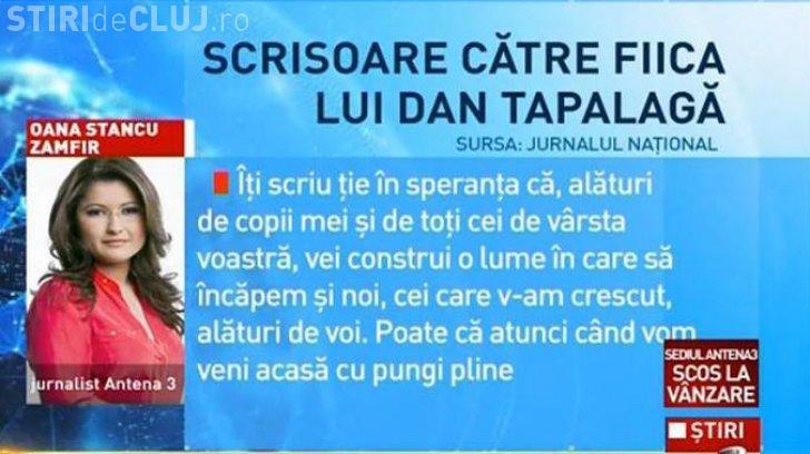 CNA a luat poziție după scrisoarea Oanei Stancu, pentru fiica minoră a lui Tapalagă