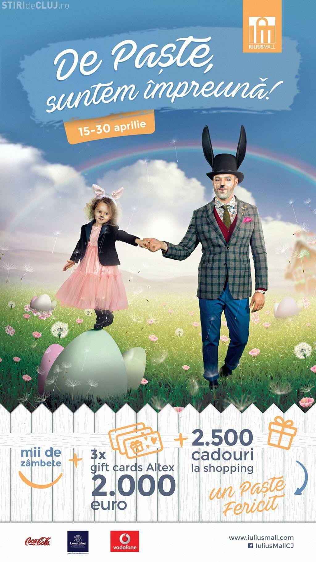 Trei sesiuni de cumpărături în valoare de 2.000 de euro fiecare și alte 2.500 de premii, de Paște, la Iulius Mall (P)