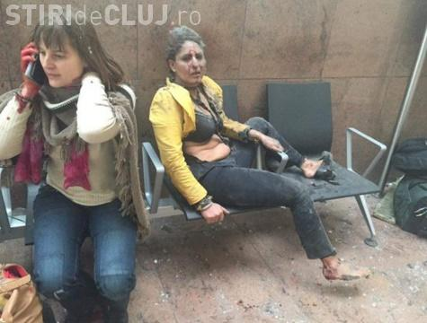 MOMENTUL EXPLOZIEI și panica ce a urmat. Imagini de la Aeroportul din Bruxelles - VIDEO