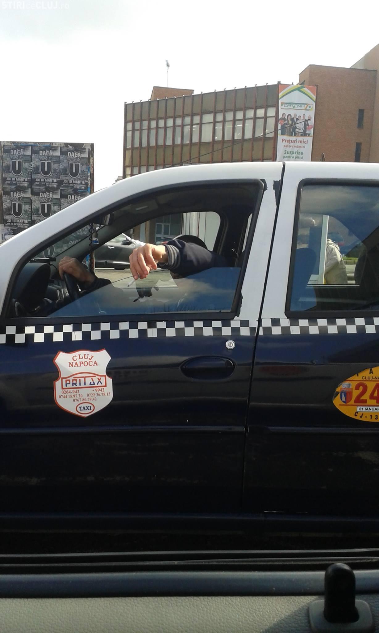 Taximetristul care a refuzat să transporte un copil bolnav, AMENDAT de Poliția Locală Cluj-Napoca