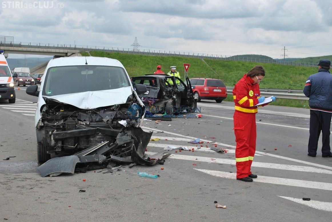 Accident în Gilău, la intrare pe Autostrada Transilvania. Victime multiple - FOTO