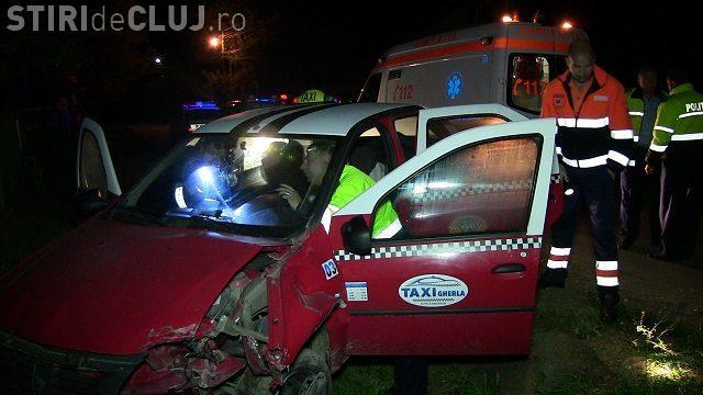 Urmărire ca în filme la Gherla! Un taximetrist beat a fugit de poliție până când a făcut accident VIDEO