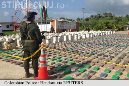 A avut loc cea mai mare captură de cocaină din istoria Coumbiei. Peste opt tone de droguri au fost confiscate