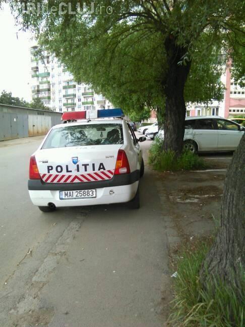 """Polițiștii către o mămică din Cluj: """"Hai marș!"""" - FOTO"""