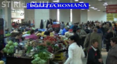 Noi razii în piețele clujene. Polițiștii au vizat în special vânzătorii de carne VIDEO