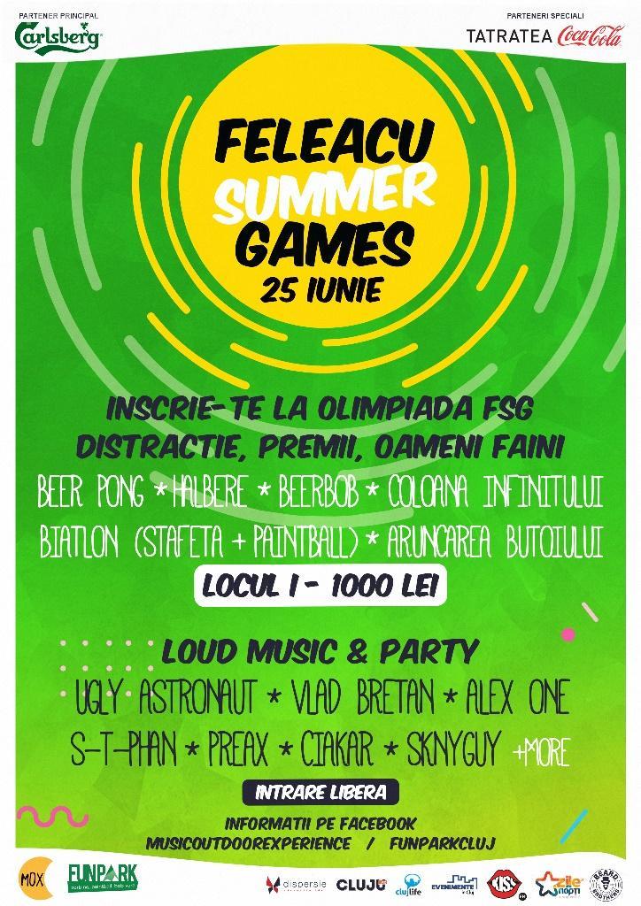 """Feleacu Summer Games încep în acest weekend. Vezi ce distracții te așteaptă la  """"Olimpiada de vară"""" și ce premii poți câștiga"""