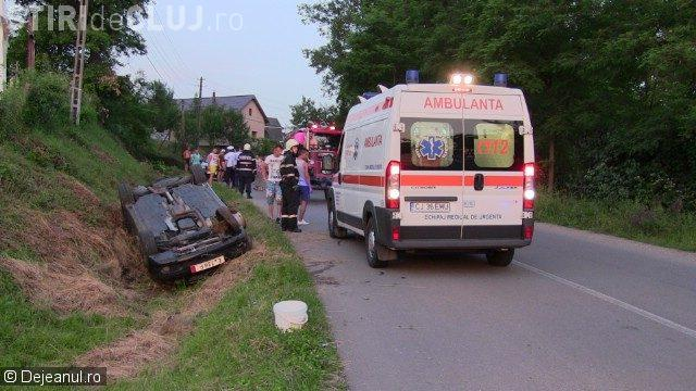 Accident cu două victime, pe drumul Gherla-Dej. A fost cauzat de un TERIBILIST beat la volan și cu permisul suspendat
