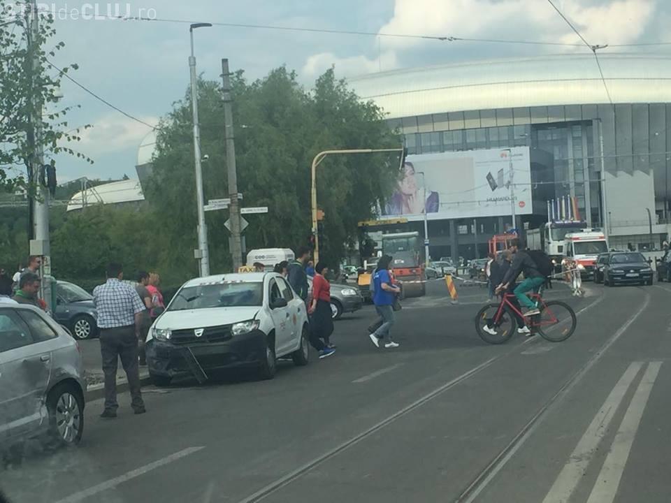 Accident la Cluj Arena! Nervii sunt întinși la maxim acolo - FOTO