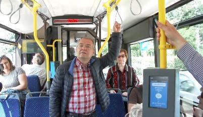 Boc a testat troleibuzul de 400.000 de euro cumpărat de Primăria Cluj-Napoca - VIDEO