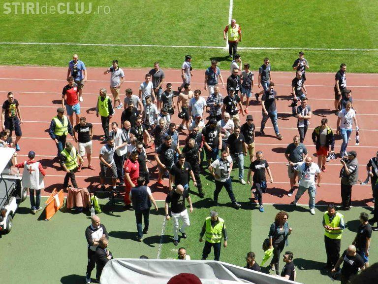 Scandal MONSTRU la meciul U Cluj - Olimpia Satu Mare. E TRIST