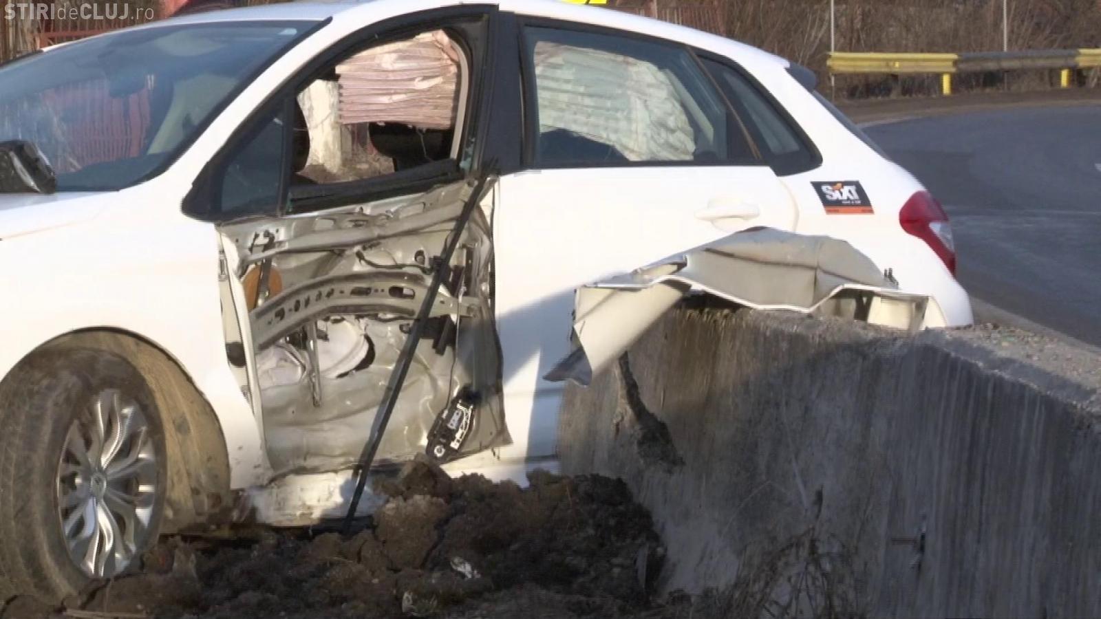 Accident mortal de circulație la Cluj. A lovit parapeții de beton de pe DN 1