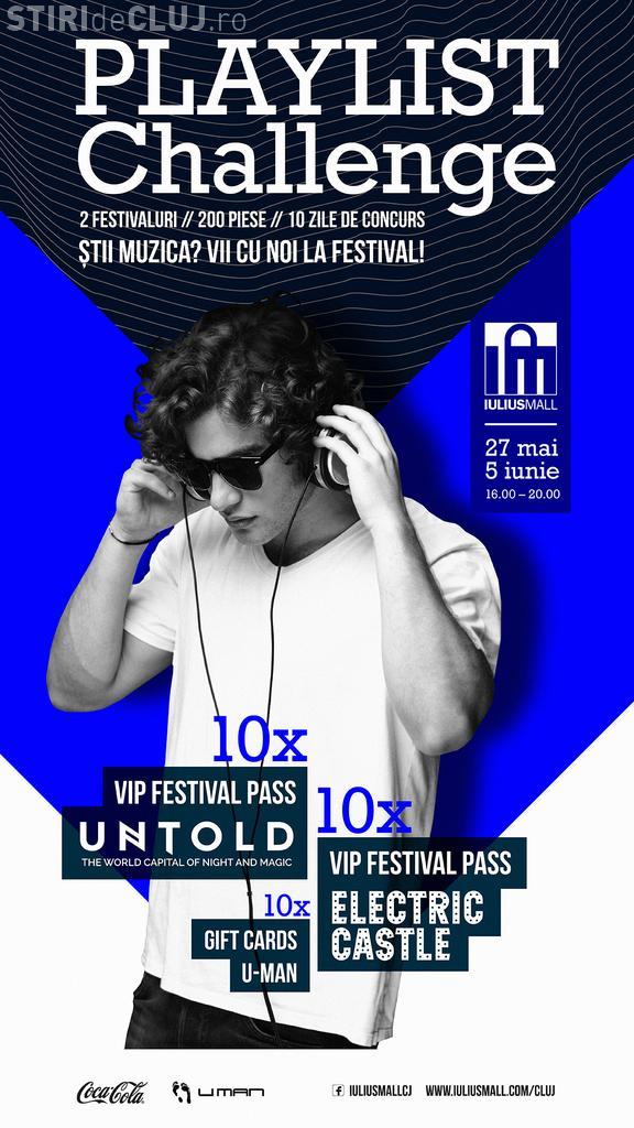 """Participă la """"Playlist Challenge"""" și Iulius Mall te trimite la Electric Castle și Untold (P)"""